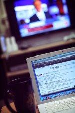 przeglądarka google na wyświetlaczu monitora
